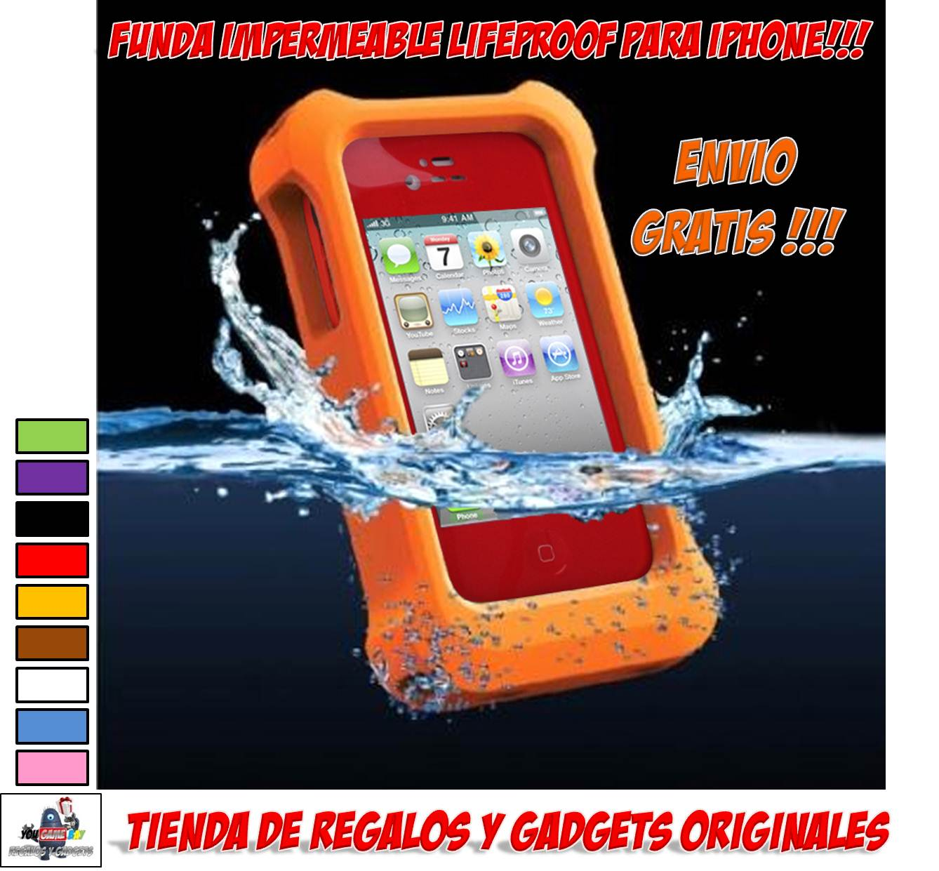 Regalos y gadgets originales y baratos fundas y carcasas impermeables para moviles funda - Fundas iphone 5 divertidas ...
