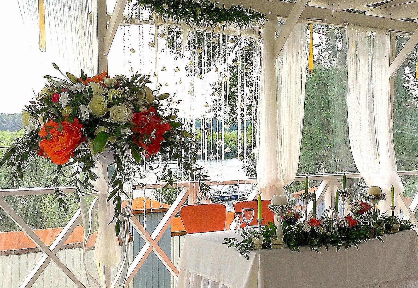 декор свадьбы цветами в ресторане ше веро