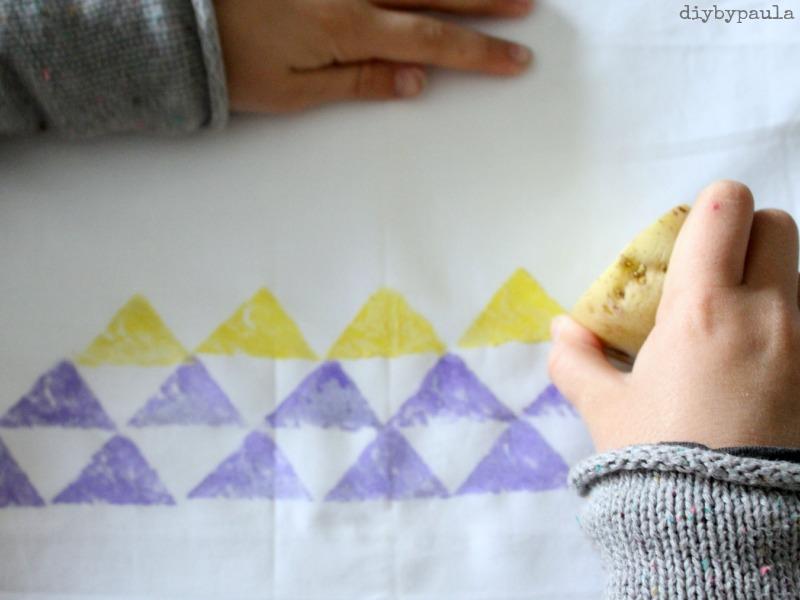 Bolsa estampada con patata