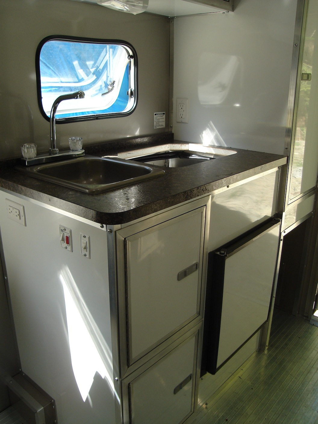 My chemical free house building a non toxic trailer for Bad smell in kitchen cabinets