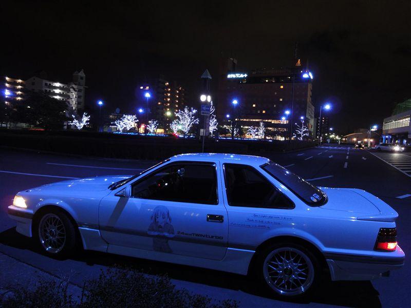 Toyota Soarer Z20, grand tourer, luksusowe coupe, z japonii, JDM, zdjęcia, auta nocą
