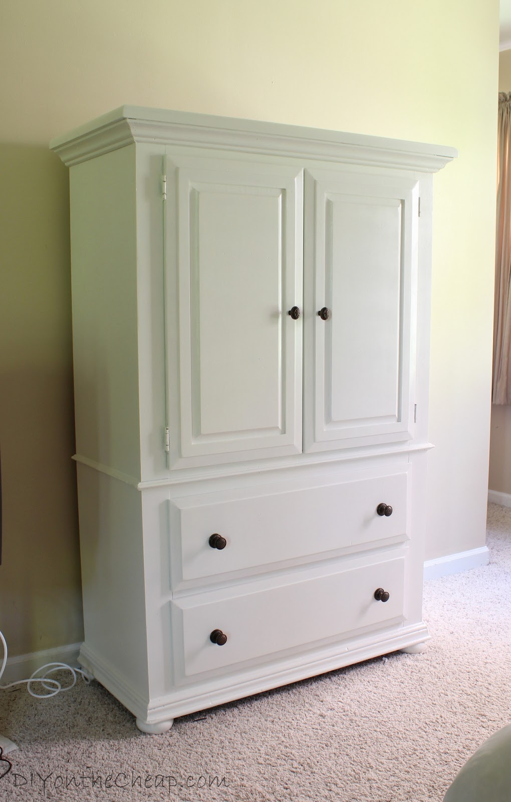 Armoire makeover master bedroom progress report erin for Armoire tv