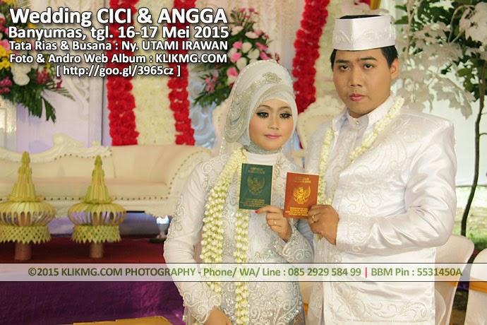 Album Foto Online Pernikahan CICI & ANGGA - Hasi tata rias & busana : UTAMI IRAWAN Rias Pengantin Purwokerto - Foto & Album Online hasil kerja : KLIKMG.COM Photo & Andro-Web