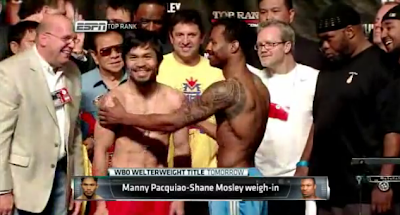 Manny Pacquiao vs Shane Mosley boxing fight