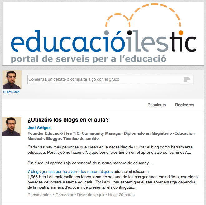 http://www.linkedin.com/groups/Educaci%C3%B3-i-les-TIC-Recursos-7464092?trk=my_groups-b-grp-v