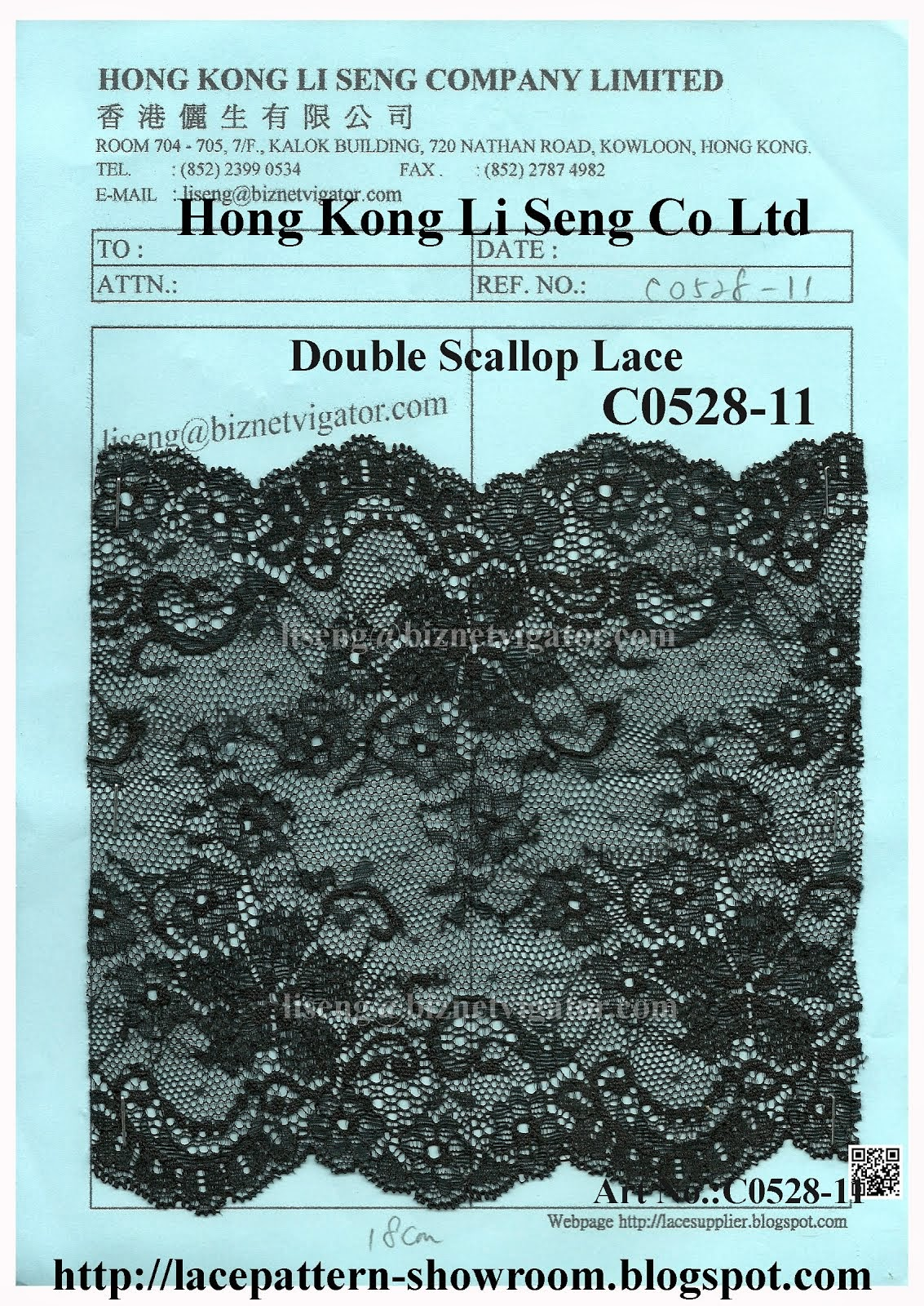 Double Scallop Lace Manufacturer Wholesaler and Supplier - Hong Kong Li Seng Co Ltd