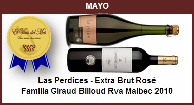 Mayo - Las Perdices - Extra Brut Rosé,Familia Giraud Billoud Rva Malbec 2010