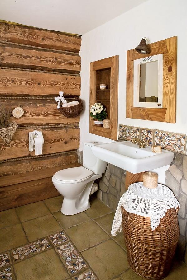 estilo rustico interiores de cabana rustica