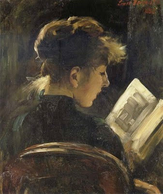 Lovis Corinth. Girl Reading, 1888