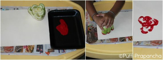 Stamping with celery