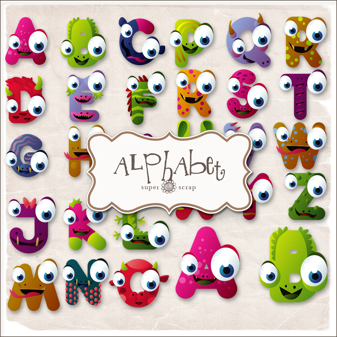 Funny Alphabet Letters