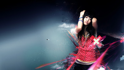 beautiful girl background