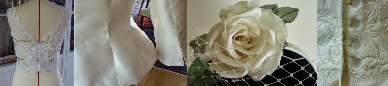 robe de mariée par couturière modéliste Versailles