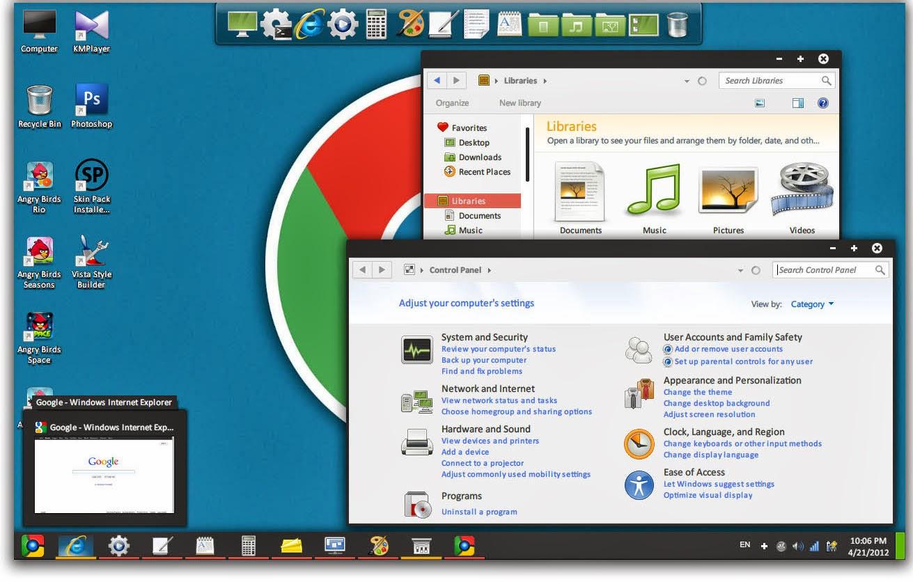 Google themes windows 7 free download - Chromium Skin Pack For Windows 7 Transform Windows 7 To Google Chromium Os