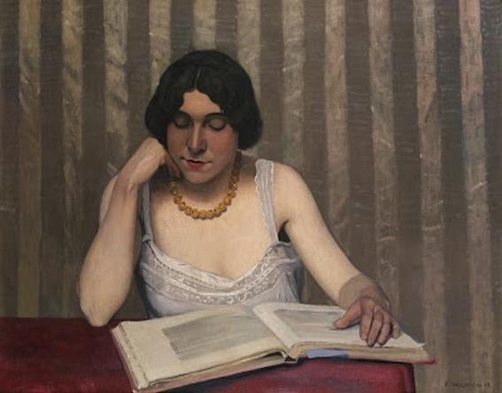 Felix Vallotton. Reader with a yellow chain,  1920