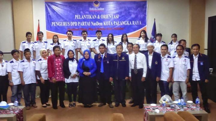 Pelantikan DPD NasDem Kota Palangka Raya Periode 2013-2018