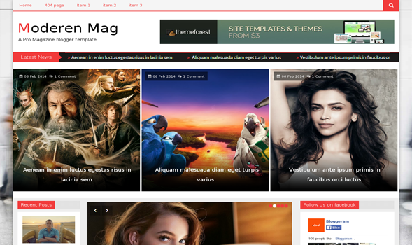 Share Theme Blogspot tin tức 2014 Modern Mag đẹp tuyệt