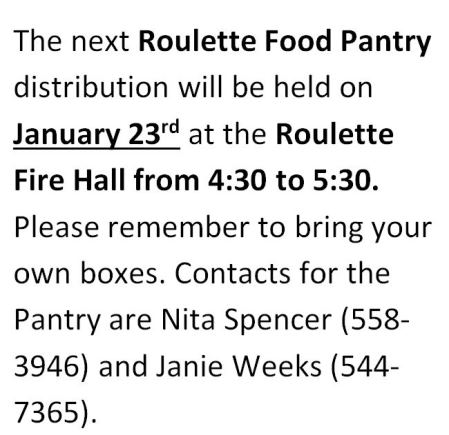 1-23 Roulette Food Pantry