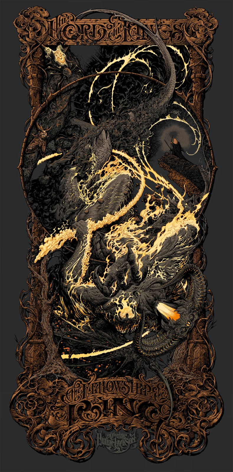 The Lord of the Rings: The Fellowship of the Ring Variant Screen Print by Aaron Horkey