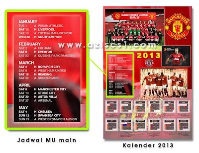Desain Kalender 2013 Bergambar Klub Sepakbola