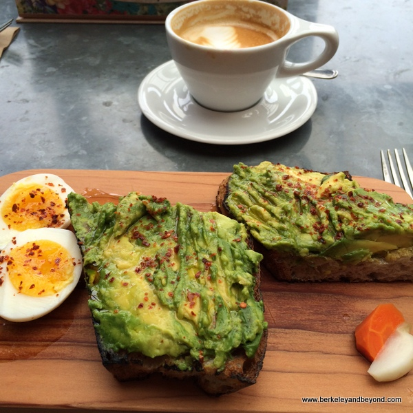 avocado toast at Bartavelle Coffee & Wine Bar in Berkeley, California