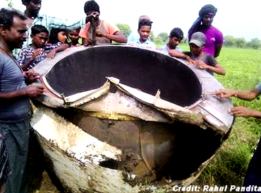 Object Falls from the Sky in Chhattisgarh, India 8-7-15