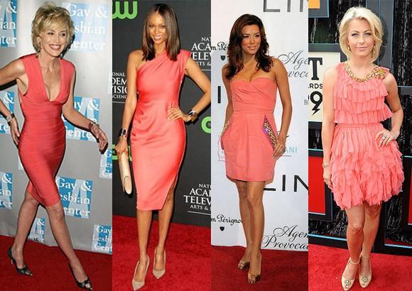 Обувь какого цвета подойдет к розовому платью