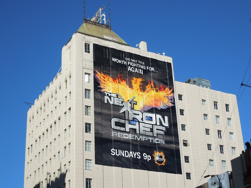 Next Iron Chef Redemption giant billboard