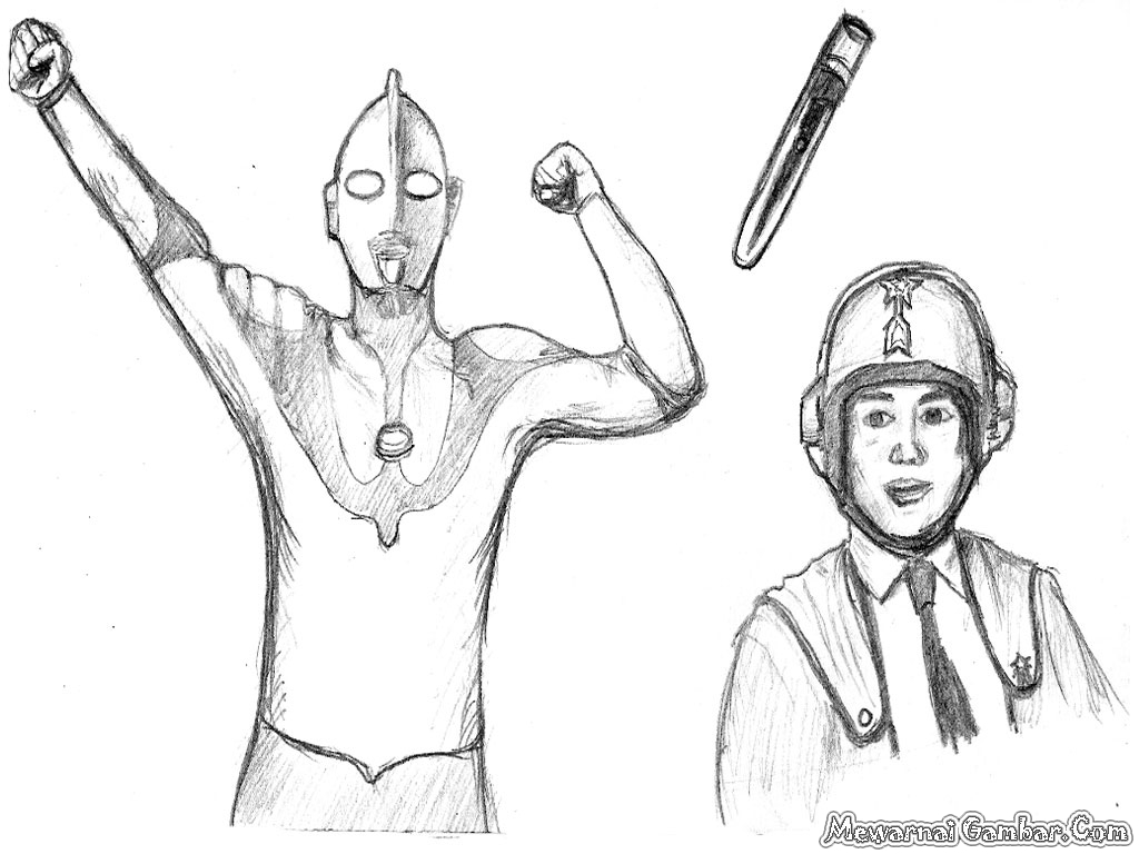Ultraman Coloring Pages Coloring