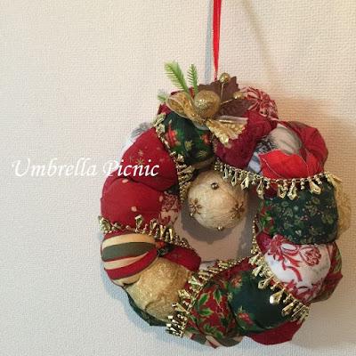 パフのクリスマスリース20151222