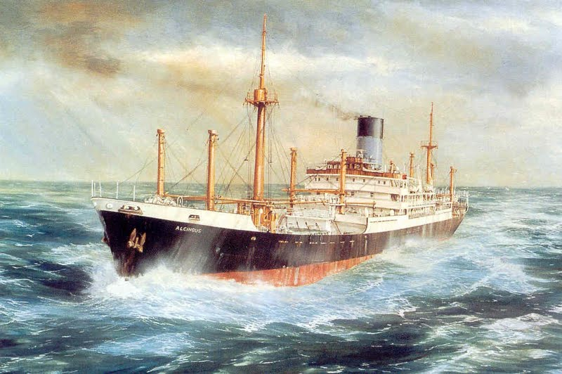 Blue Funnel Line Ships Paintings