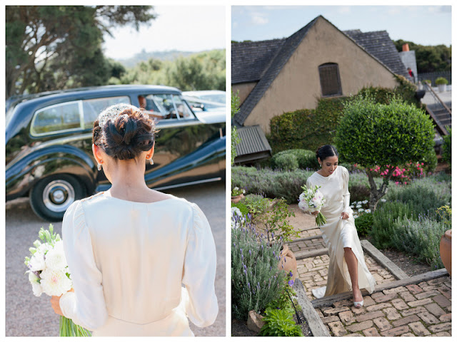 the bride wore two gorgeous gowns in this DIY meets art deco wedding in New Zealand