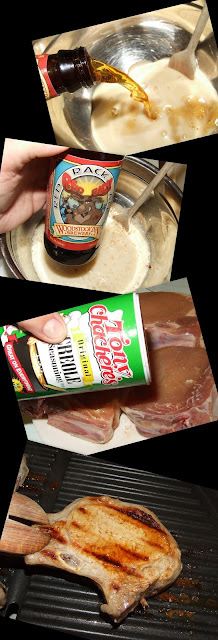 Beer Brined Grilled Pork Chops
