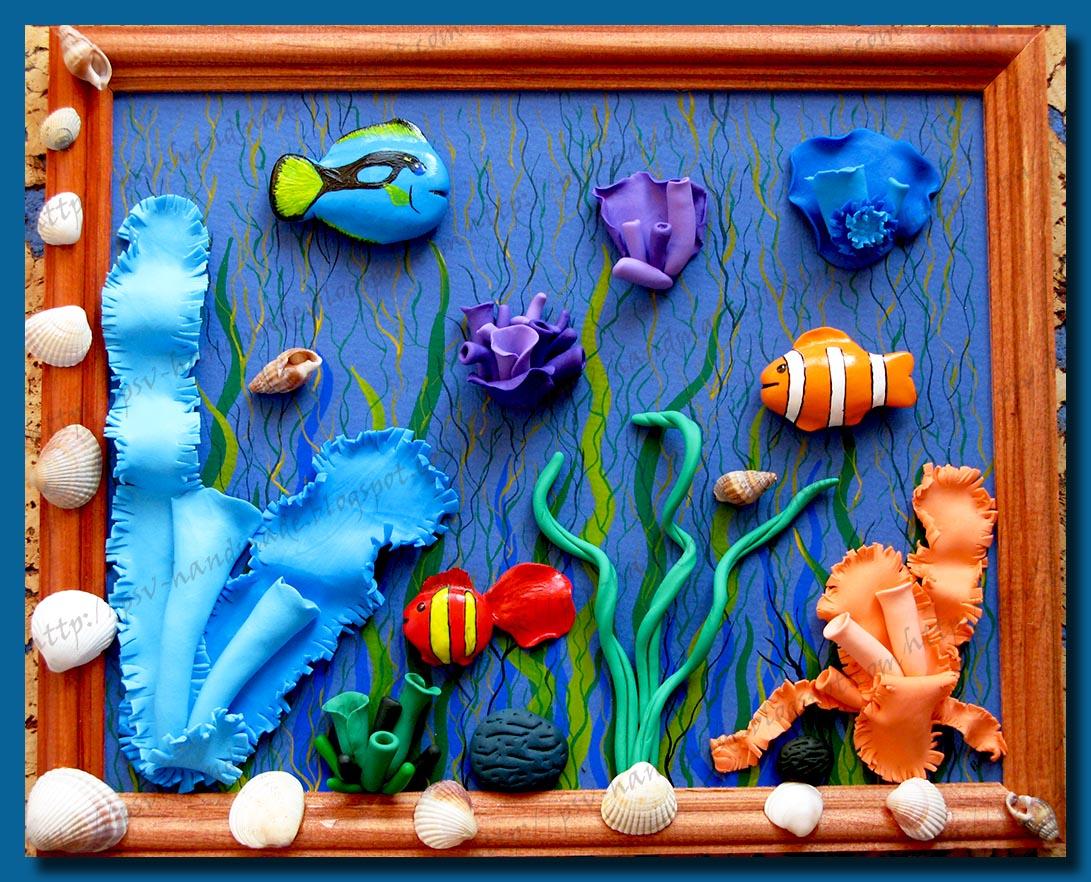 Лепка из пластилина знакомство с морскими глубинами
