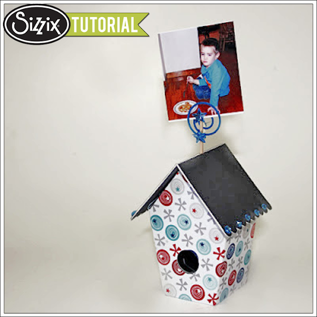 Sizzix Die Cutting Tutorial: Birdhouse Photo Display by Tami Mayberry