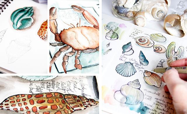 Art Journal Drawings Art Journaling Techniques