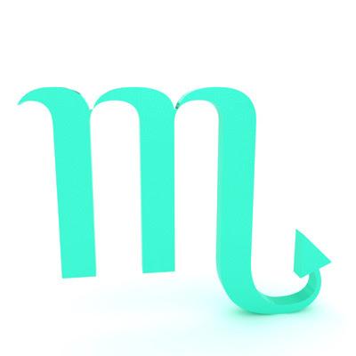 signo escorpio en simbolo