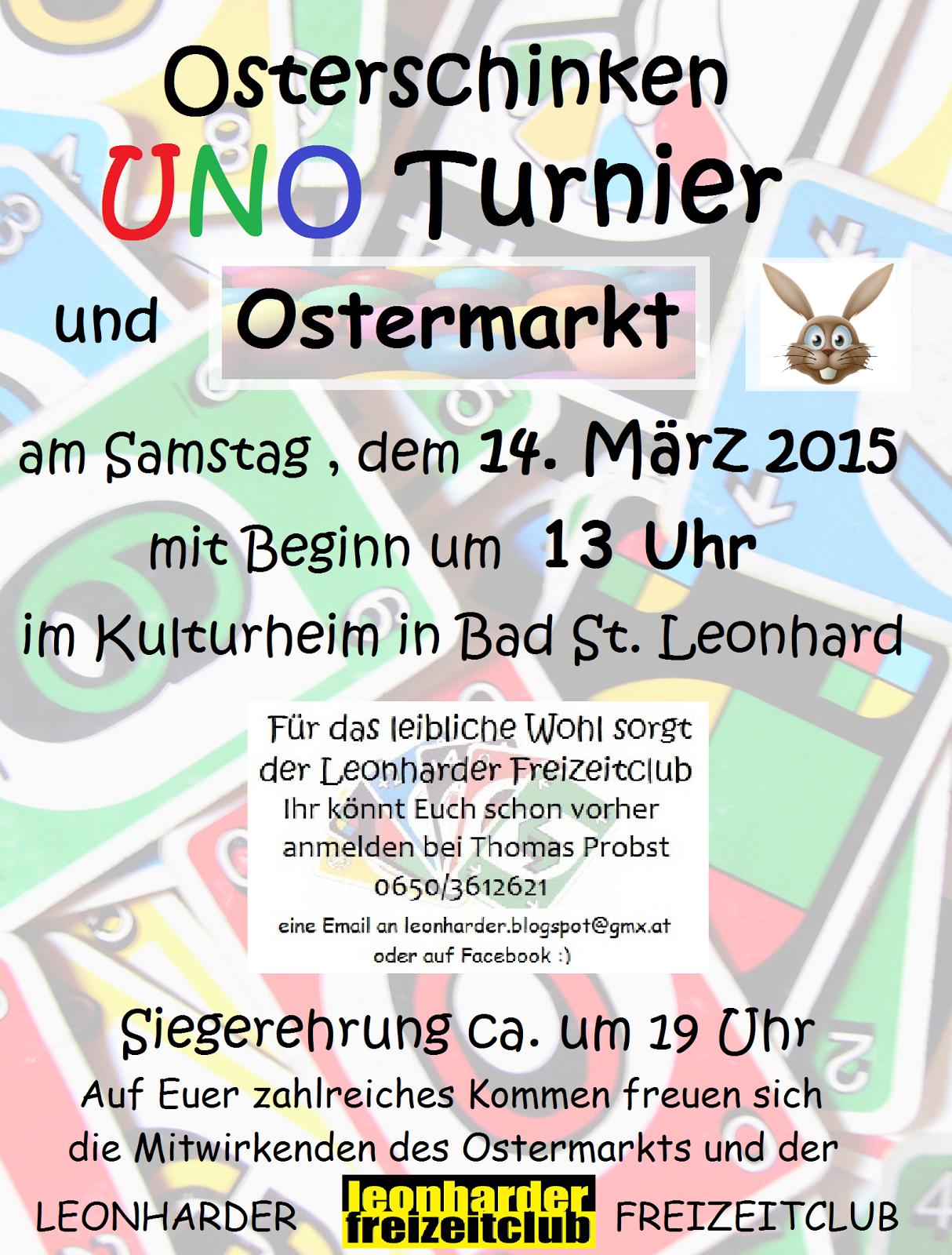UNO Turnier des Leonharder Freizeitclub