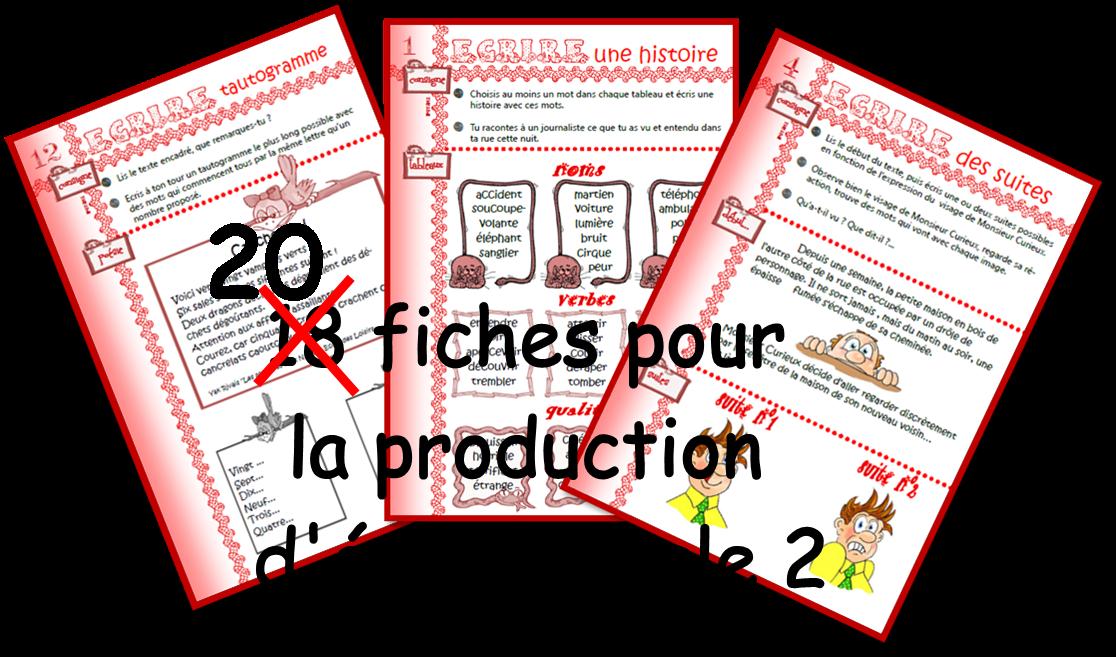 IPOTÂME ....TÂME: production d'écrits cycle 2 suite.