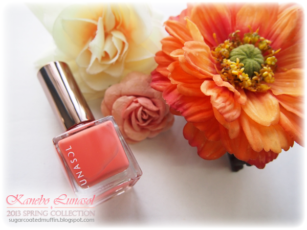 Lunasol nail polish salmon colour