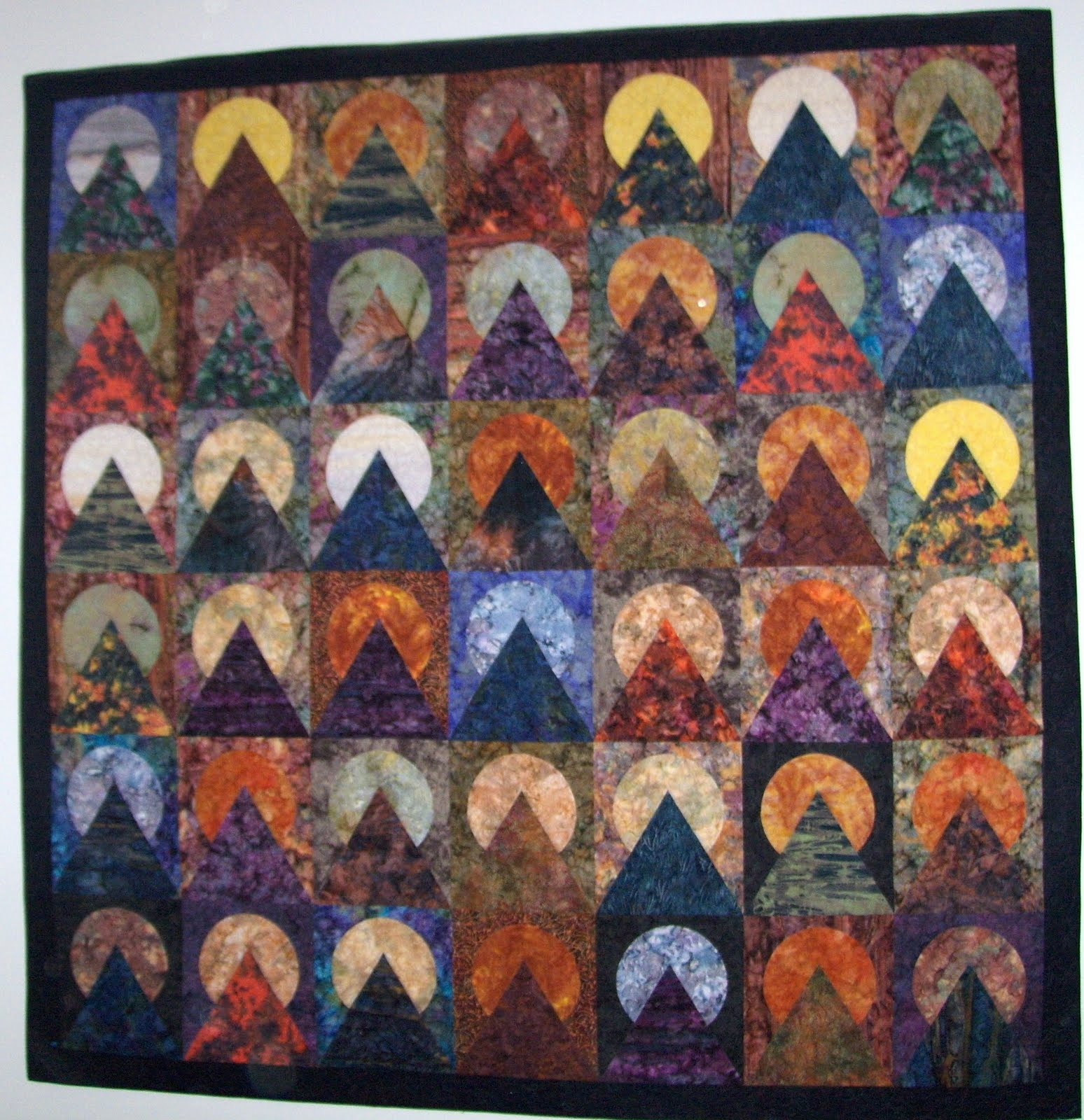 Mountain Landscape Quilt - Quilting and Quilt Patterns