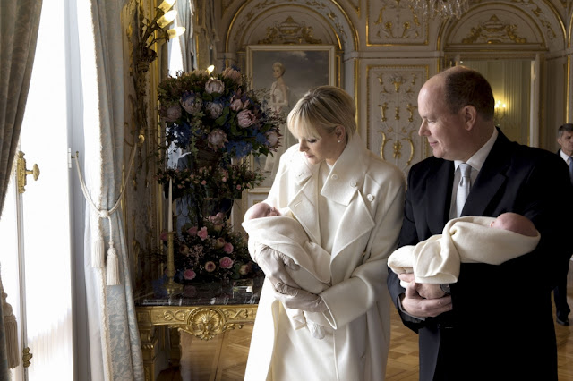 Prince Albert and Princess Charlene twins children
