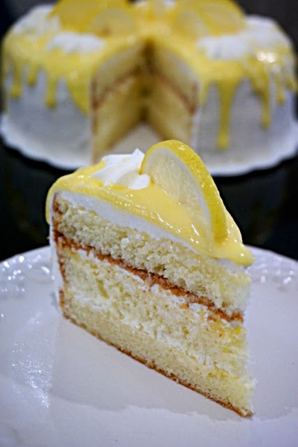 Gateau lemon curd coco