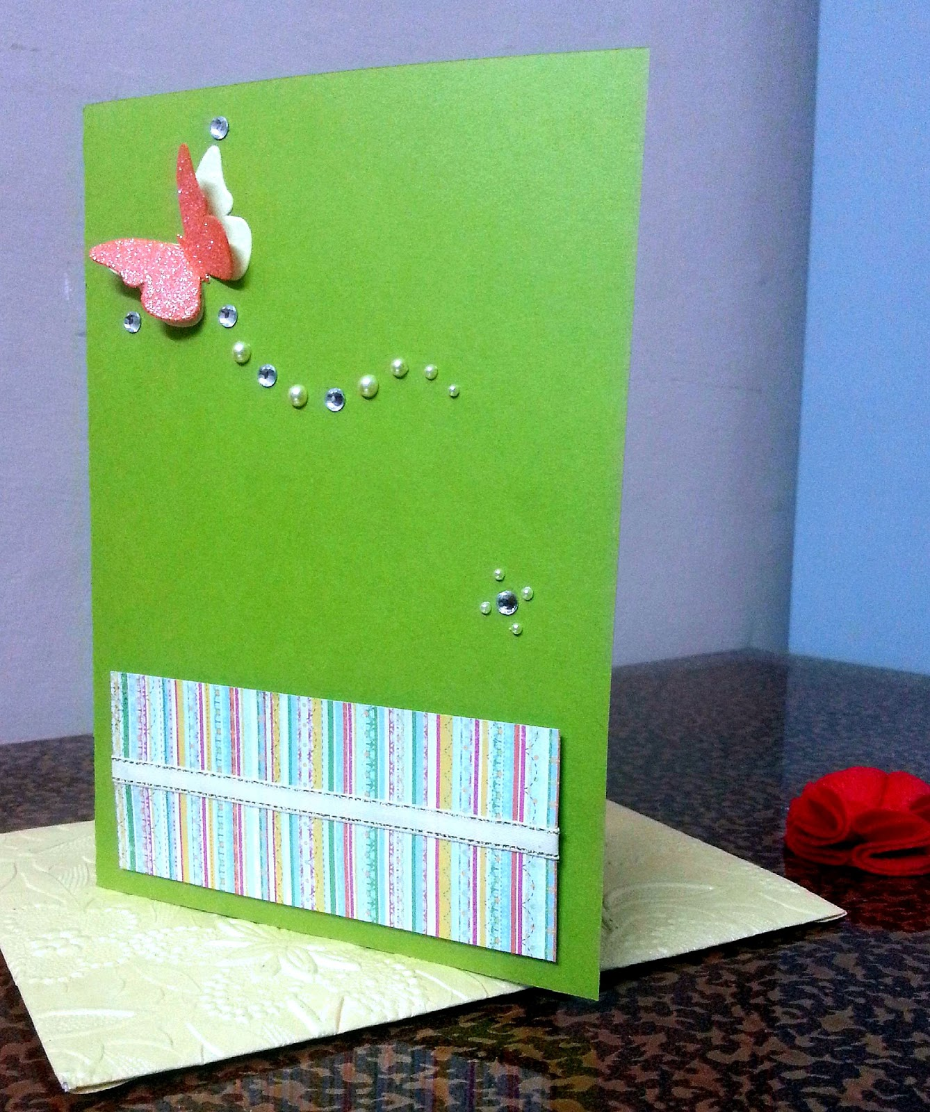 Craftilicious First Birthday card for Grandpa – What to Write on a First Birthday Card