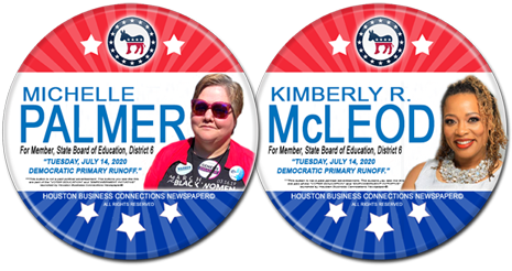 Michelle Palmer and Kimberly R McLeod are the Democratic Candidates for SBOE, District 6