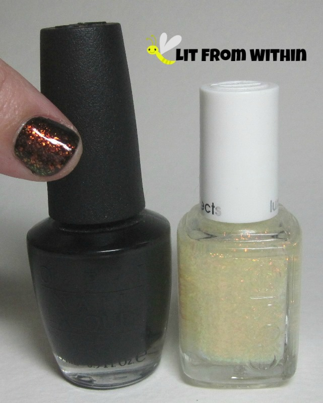 OPI Black Onyx, Essie Shine Of The Times