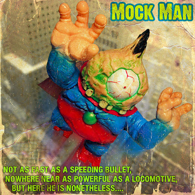 "Superman Inspired ""Mock Man"" 8-Ball Vinyl Figure by Radioactive Uppercut"
