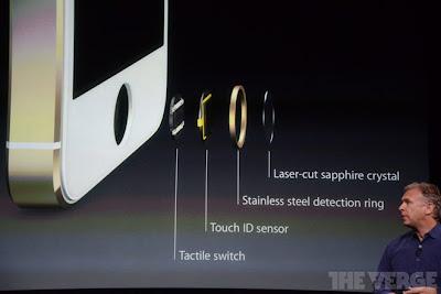 Lector de huellas dactilares del iPhone 5S