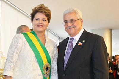 Presidente Dilma e o Presidente da Palestina Mahmud Abbas