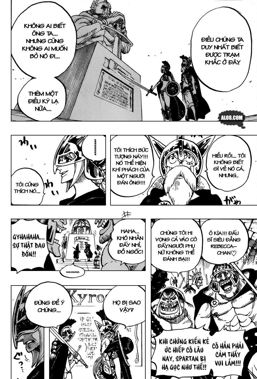 One Piece Chapter 704: Lucy và bức tượng của Kyros 016